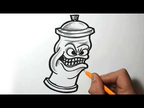Graffiti Spray Can Characters Drawings by Wizard How to Draw Graffiti Character