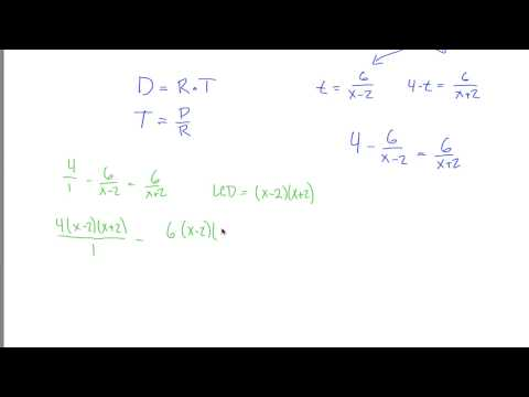 Rational Equations Application Example