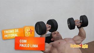 Treino de peitoral com o atleta Paulo Lima