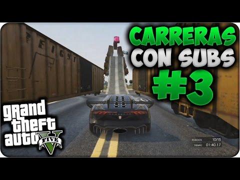 GTA V Online - Saltos Increíbles y Tramposos!! - Carreras con Subs #3 - Funny Moments GTA 5