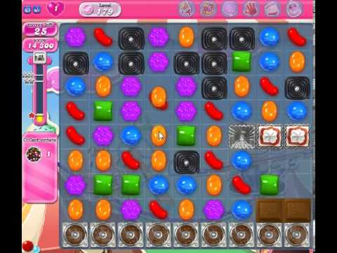 How to beat Candy Crush Saga Level 179 - 2 Stars - No Boosters - 70