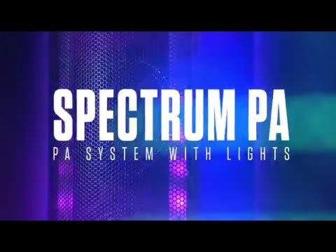 Alto Spectrum PA Portable PA System Dual LED Lighting