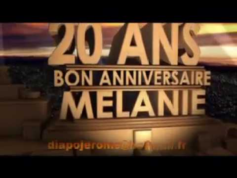 anniversaire melanie 20 ans youtube. Black Bedroom Furniture Sets. Home Design Ideas
