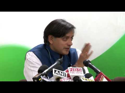 AICC Press Conference Address by Shashi Tharoor | 7 May 2014
