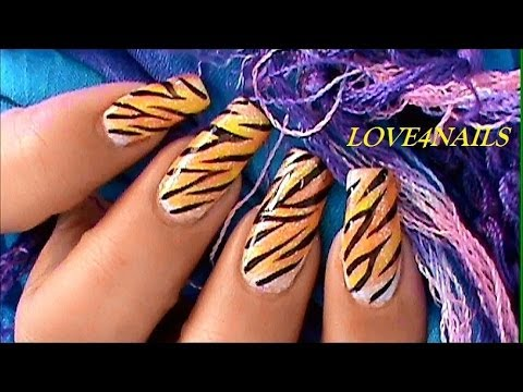 How To Tiger Nails ~ Tutorial, Learn to do tiger nails
