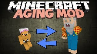 Minecraft: THE AGEING MOD! Start As A Baby, Die As An