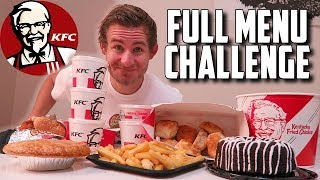 THE SUPERCHARGED KFC MENU CHALLENGE! (10,000+ CALORIES)