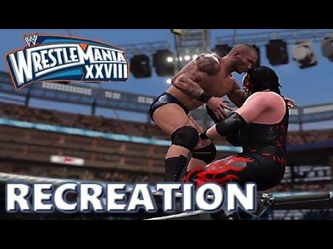 WWE 2K17 RECREATION: RANDY ORTON VS KANE    WRESTLEMANIA 28 HIGHLIGHTS