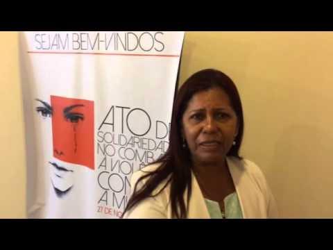 Eunice Cabral fala em ato pelo fim da violência contra a mulher