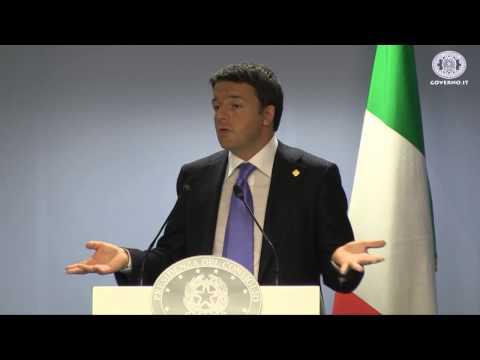 Matteo Renzi dopo Consiglio Europeo :