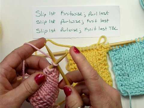 Slip Stitch Knitting Edge : Slip Stitch Edges - Knitting - YouTube