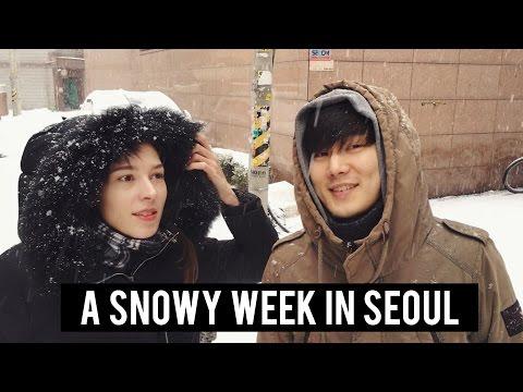 ❄️ A Snowy Week | Patjuk | & Gwanmunsa Temple (자막)국제커플 브이로그 서울의 눈 & 관문사 템플
