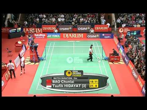R16 - MS - Bao Chunlai vs. Taufik Hidayat - 2011 Djarum Indonesia Open