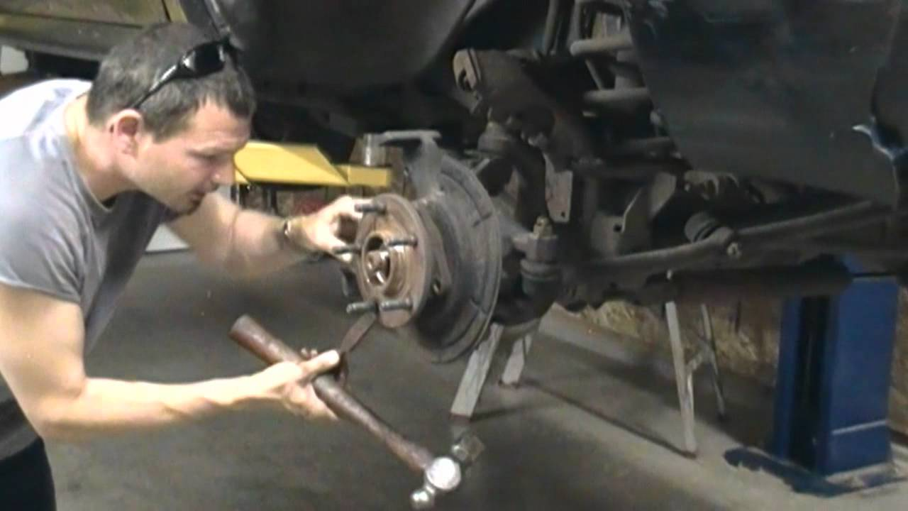 dodge ram front axle u joint and hub replacement how to 4x4 4 wheel ...
