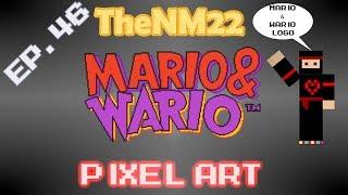 Mario & Wario Logo in Minecraft - TheNM22 Pixel Art