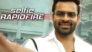 Watch: Sai Dharam Teja Answers Rapid Fire Interesting Que..