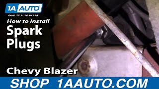 How To Install Replace Spark Plugs Chevy S-10 Pickup