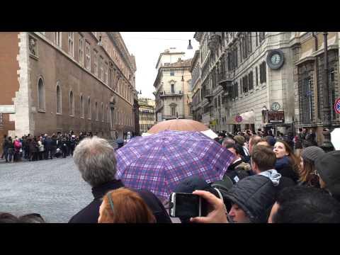 obama a roma piazza venezia
