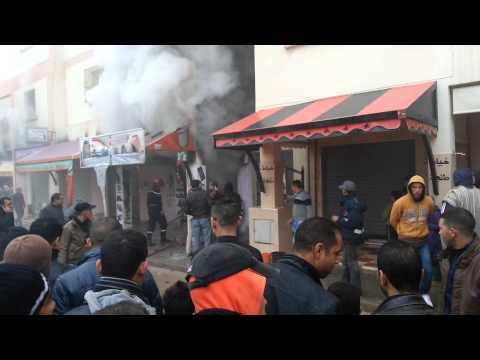 إندلاع حريق بمحل تجاري بإمزورن