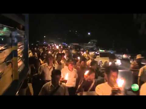 RFA Burmese on 08 Nov 2031,Protests in Yangon on Electricity Rate Hike