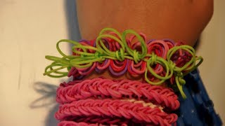 New Style! How To Make A Hula Hoop Rubber Band Bracelet On