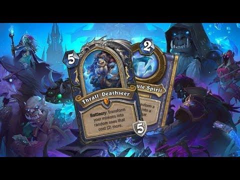 Hearthstone Thrall Deathseer deck Lich Evolve Shaman [Frozen Throne]