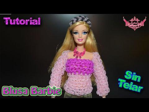 ♥ Tutorial: Blusa para Barbies o Muñecas de gomitas (sin telar) ♥