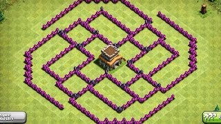 Epic Town Hall 8 Trophy Base The Ball Clash Of Clans