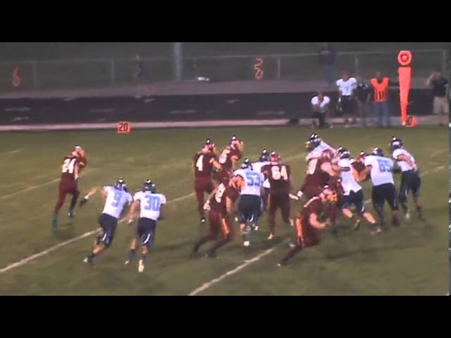 9-20-13 - Kyle Rosenbrock sprints for 15 yards and a 1st down