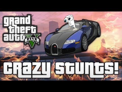 GTA V: CRAZY JUMPS & STUNTS! (GTA 5 Funny Moments)