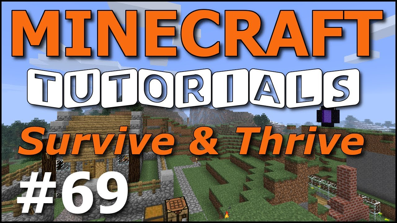 Minecraft Tutorials - E69 Witches and Huts (Survive and Thrive Season ...