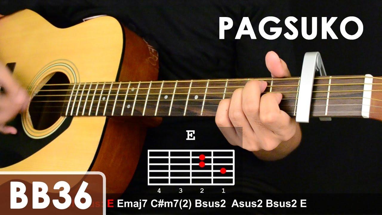 Pagsuko - Jireh Lim Guitar Tutorial (Chords/Sequence/1st chorus fingerpicking lesson) - YouTube