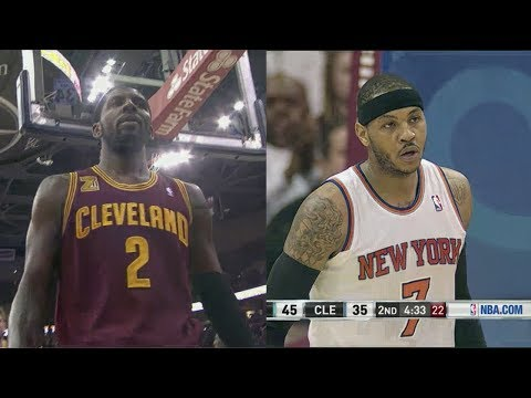 2014.03.08 - Carmelo Anthony vs Kyrie Irving Battle Highlights - Knicks at Cavaliers
