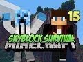 Minecraft Skyblock Survival - #15 - ENCHANTMENT TABLE!