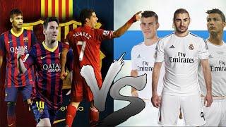 Cristiano Ronaldo Bale Benzema Vs Lionel Messi Neymar Luis