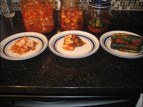 Cách làm kim chi củ cải, kim chi  cải thảo và kim chi dưa chuột