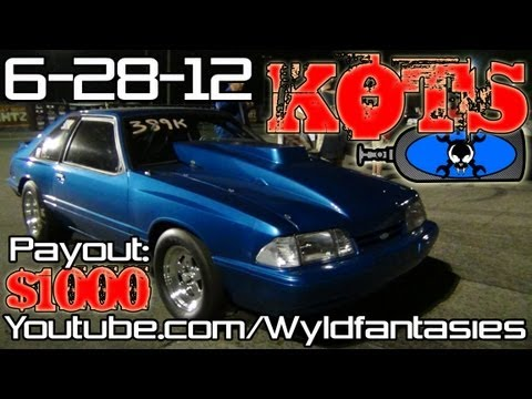KOTS 8: Nitrous BBF Capri grudge racing domination continues Thursday Night Lightz 2012