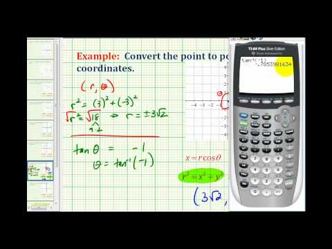 Example: Convert a Point in Rectangular Coordinates to Polar Coordinates Using Radians
