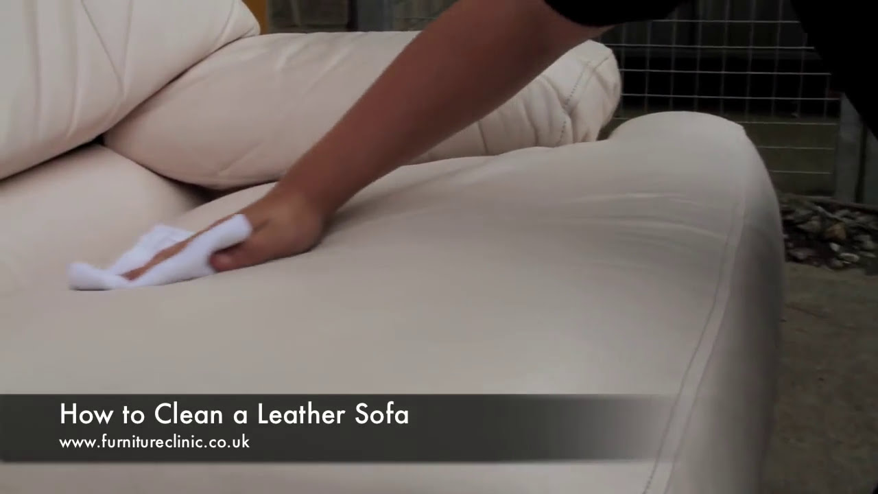 how to clean a leather sofa youtube. Black Bedroom Furniture Sets. Home Design Ideas