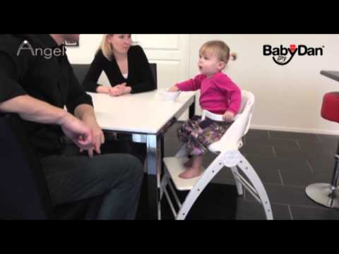 BabyDan Angel Highchair - Demonstration Video | BabySecurity