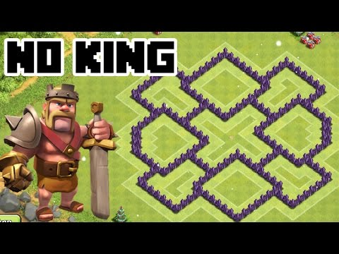 CLASH OF CLANS - TH7 TROPHY BASE BEST TOWN HALL 7 Defense Without The Barbarian KING