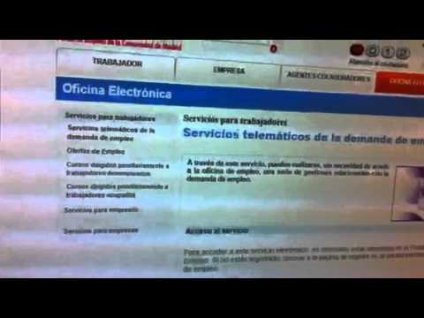 Sellar paro por internet madrid youtube for Inem sellar paro internet