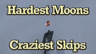 Mario Odyssey Min Captures, Max Moons Challenge - Hardest Moons, Craziest Skips, Amazing Jumps