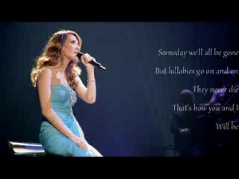 Celine Dion - Lyrics - Lullaby (Goodnight My Angel) - YouTube