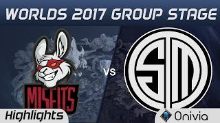 MSF vs TSM Highlights World Championship 2017 Group Stage Misfits vs Team Solo Mid by Onivia