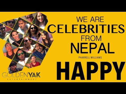Pharrell Williams - HAPPY WE ARE CELEBRITIES FROM NEPAL