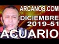 Video Horóscopo Semanal ACUARIO  del 15 al 21 Diciembre 2019 (Semana 2019-51) (Lectura del Tarot)