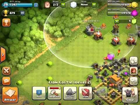 Clash of clan/كباش أوف كلان :نضرة أولية