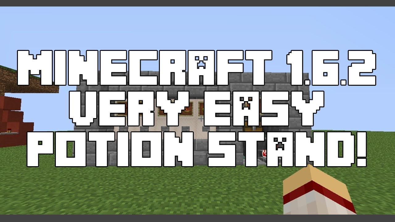 Tutorial potion brewing stand minecraft 1 6 2 youtube
