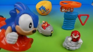 1993 McDONALD'S SONIC THE HEDGEHOG 3 SET OF 5 HAPPY MEAL KIDS TOYS VIDEO REVIEW